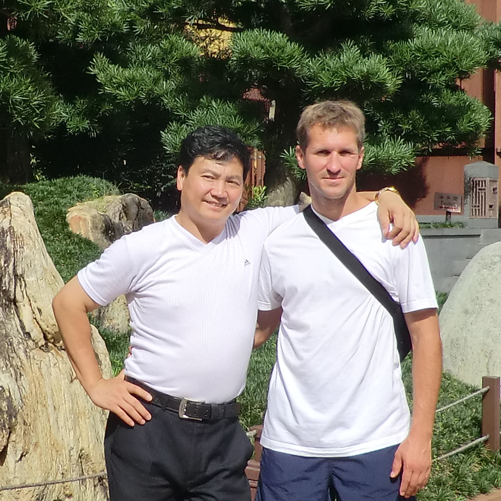 Taiji-Meister Chen Shi Hong und Schüler Claus Trska